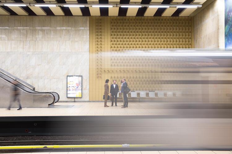 Brussels Metro Art Gallery