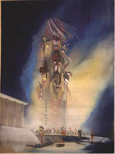 Dessin pour le projet de la section belge pour l'Exposition coloniale internationale de Paris de 1931© CIVA, Brussels , 1931