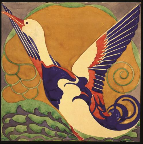 Projet de motif de canard pour papiers peints© CIVA, Brussels , ca.1910