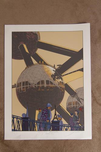 Expositions universelles, l'Atomium© François Schuiten, 2008
