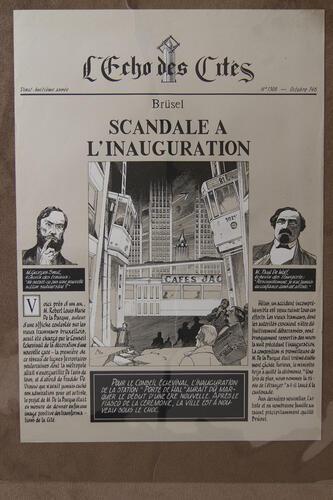 L'Echo des Cités. 28e année. N°1308. Octobre 146. Brüsel. Scandale à l'inauguration© François Schuiten, 1994