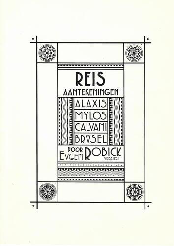 Reis aantekeningen. Alaxis. Mylos. Calvani. Brüsel door Eugen Robick Urbatect© François Schuiten / Benoît Peeters , 1986