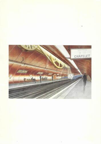 Station Arts et métiers. La machine de François Schuiten© François Schuiten, 1994