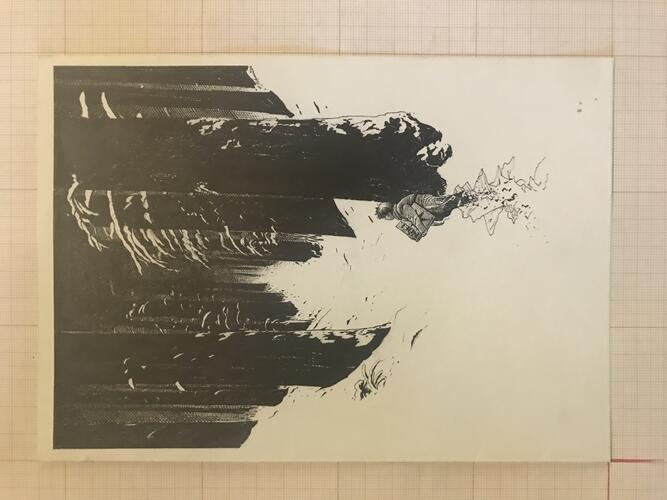 Carte de vœux 1990© François Schuiten , 1989