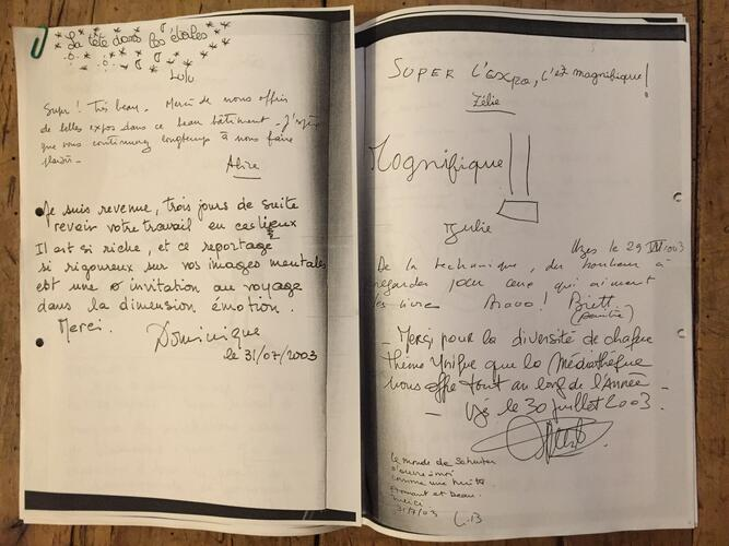 Livre d'Or Page Blanche à ...© Maison Autrique, 2003