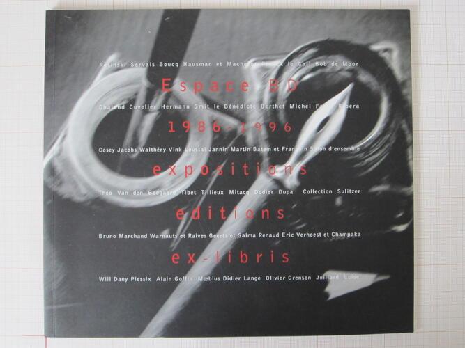 Espace BD 1986-1996 Expositions. Editions. Ex-libris© Maison Autrique, 1995