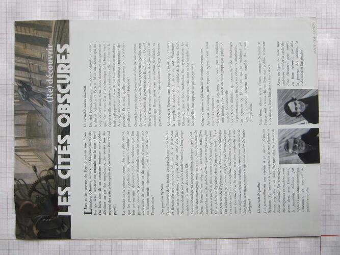 (Re)découvrir les Cités obscures© François Schuiten / Benoît Peeters , 2010