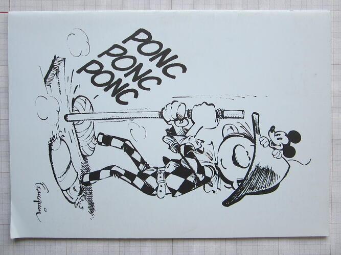 En scène pour la B.D. ! (Ponc Ponc Ponc Franquin)© La Bellone, 1986