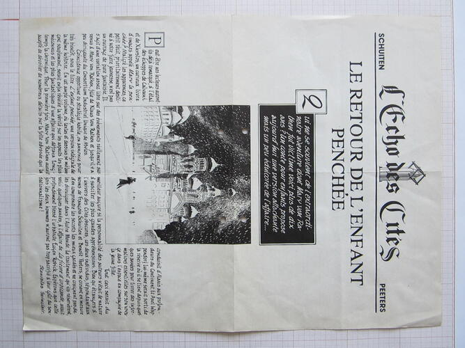 L'Echo des Cités. Le Retour de l'Enfant penchée© François Schuiten / Benoît Peeters, 1996