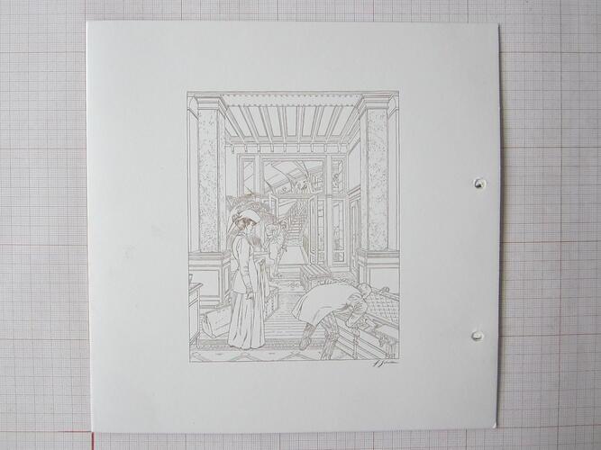 Carton d'invitation Vuitton - La Libre Essentielle - Maison Autrique© François Schuiten, 2004