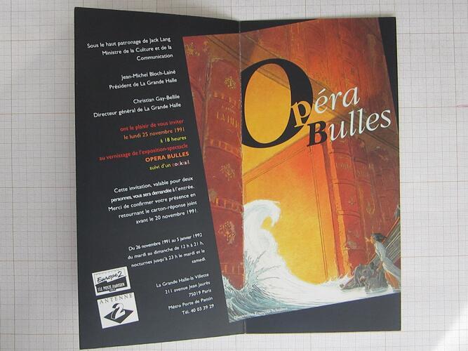 Invitation Opéra Bulles© François Schuiten, 1991