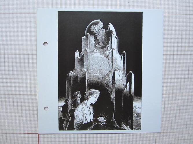 """Invitation exposition """"Lumières sur Brüsel""""© François Schuiten, 2008"""