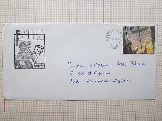 Enveloppe© François Schuiten, 1991
