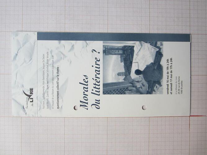 """Invitation exposition """"Autour de l'enfant penchée""""© Galerie sans titre / François Schuiten, 1996"""