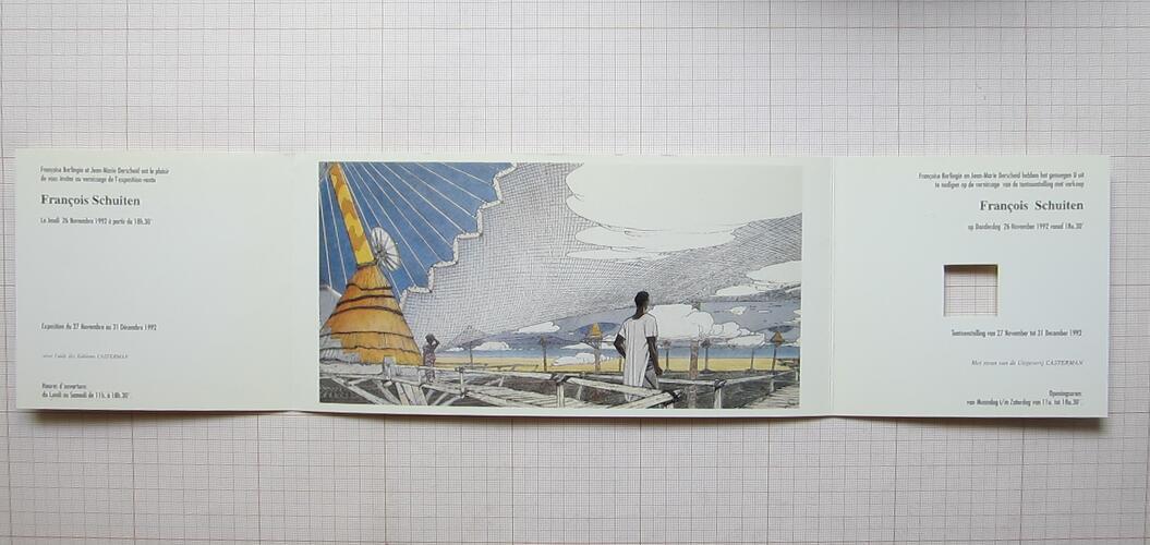 Invitation expo-vente F.Schuiten© Ziggourat, 1992