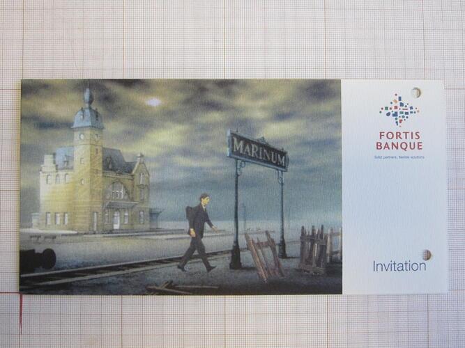Invitation Fortis Banque© François Schuiten, 2002