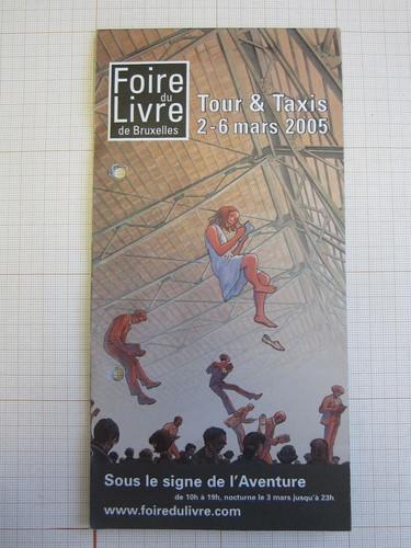 Programme Foire du Livre de Bruxelles 2005© François Schuiten, 2005