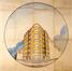 Perspective pour un immeuble à appartements d'angle, rue Franz Merjay à Ixelles<br>De Vestel, Lucien