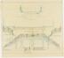 Plan de la ferronerie de la terrasse et des balcons d'une maison située avenue de la Cascade 36-37 à Ixelles<br>Blerot, Ernest