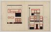 Plan de façade de la maison personnelle de Victor Bourgeois à Koekelberg<br>Bourgeois, Victor