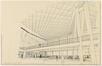 Dessin d'avant-projet pour l'intérieur de l'aérogare de Zaventem<br>Brunfaut, Maxime / Moutschen, Joseph / Bontinck, Geo