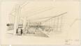 Dessin d'avant-projet pour le hall de transit de l'aérogare de Zaventem<br>Brunfaut, Maxime / Bontinck, Geo / Moutschen, Joseph