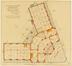 Plan du rez de chaussée de l'ancien Institut pour infirmière 'Edith Cavell' à Uccle<br>Dewin, Jean-Baptiste