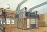 Dessin du studio de la villa de B. à Campo à Auderghem de Louis-Herman De Koninck<br>De Koninck, Louis-Herman
