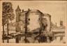 Porte Sainte Croix à Bruges<br>Blieck, Maurice Emile