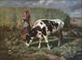Vache en pâture<br>De Beul, Henri