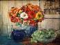 Bloemen en druiven<br>Feremans-Warzee, A.