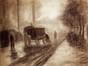 Roulotte sous la brume<br>Bruneau, Florimond