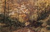 Sous-bois, coucher de soleil<br>Coosemans, Joseph
