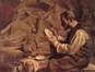 Le statuaire Godefroid Devreese dans son atelier<br>Detilleux, Servais