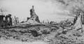 Nieuport, place de l'église, 1918<br>Detilleux, Servais