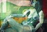 Femme en rouge et vert<br>Trachsel, Francine