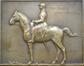 Penning : Portret van Jacque Philippson door Armand Bonnetain, 1924, herdenkingsmedaille van tweede luitenant stierf aan het front in 1918, brons<br>Bonnetain, Armand