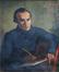 Huile sur toile par Joseph Nassy, « Portrait '<br>