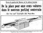 Le soir, 20 octobre 1968, plan du parking souterrain© KBR