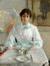 Portret van de vrouw van de kunstenaar