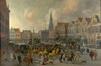 Vue du Meir à Anvers (Carnaval à Anvers)<br>De Bie, Erasmus
