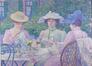 Le thé au jardin<br>Van Rysselberghe,  Théo