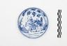 Assiette en porcelaine de Chine au décor de cavalier<br>