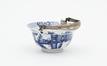 Bol en porcelaine avec anse en argent<br>