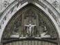 Trône de la grâce et deux anges en adoration<br>Meunier, Constantin