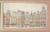 Façades des maisons de la Grand-Place, reconstruites après le bombardement de 1695<br>Derons, Ferdinand-Joseph