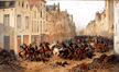 Déroute de la cavalerie hollandaise dans la rue de Flandre en 1830
