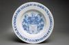 Deux grands plats à décor bleu et blanc<br>Vanden Haute, Jacques