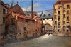 Le moulin à papier ou Driesmolen, rue des Six-Jetons<br>Van Moer, Jean-Baptiste