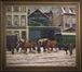Attelage à quatre chevaux devant les bâtiments de la firme Vandergoten au Quai à la Houille 10-11<br>Matthysen, F.